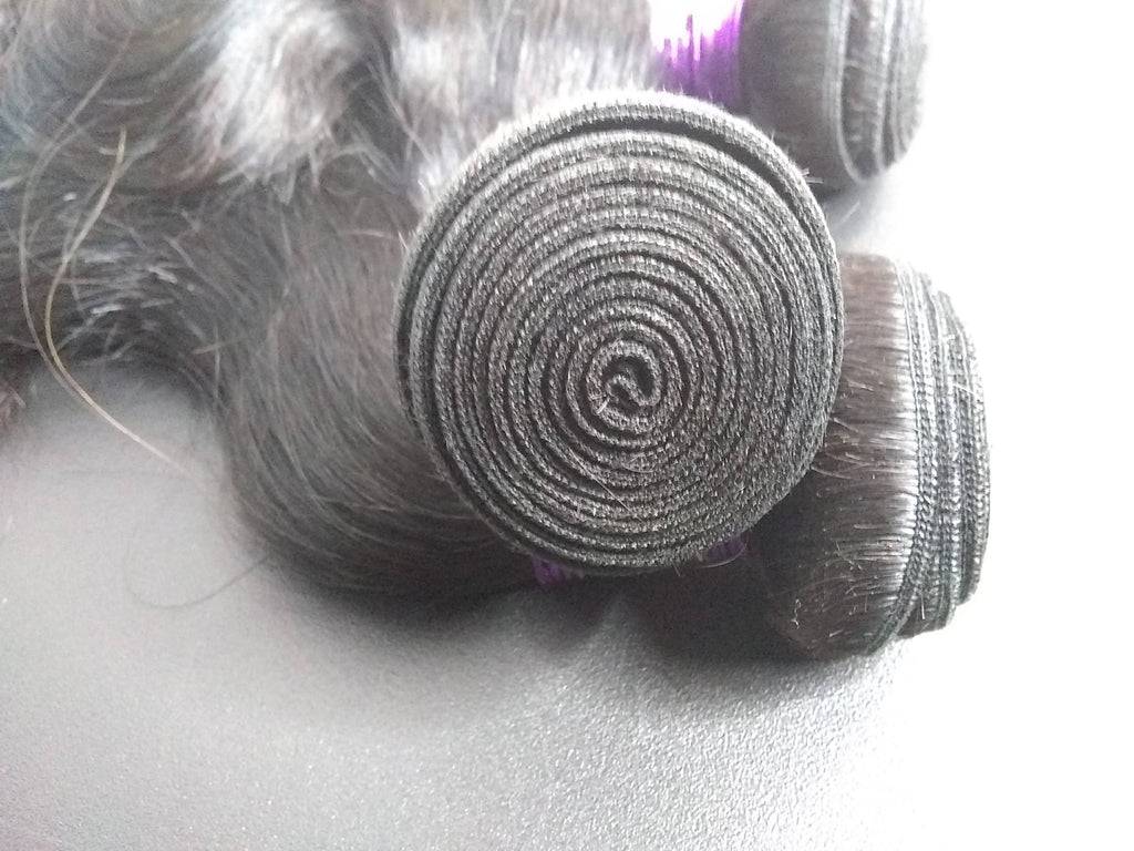Purple Label Virgin Remy Bodywave Hair 1pc. - SilkyHairShop.com