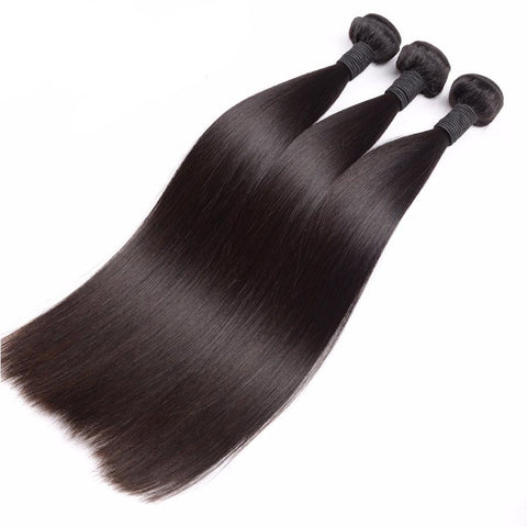 Lux Virgin Remy Natural Straight 4pcs - SilkyHairShop.com