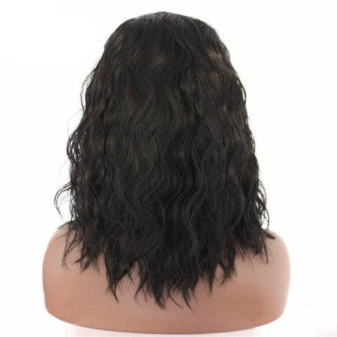 Image of Tanya Long Wavy Bob color 1B - SilkyHairShop.com