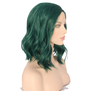 Emeralda Lace Front Wavy Long Bob color Green