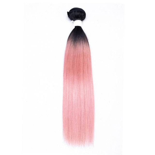 Dark Roots Pre-Colored Ombre Straight Remy 100% Human Hair Extensions 1pc. - SilkyHairShop.com