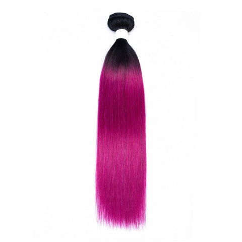 Image of Dark Roots Pre-Colored Ombre Straight Remy 100% Human Hair Extensions 1pc. - SilkyHairShop.com
