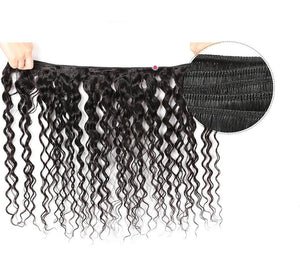 Brazilian Virgin Water Wave Human Hair 1, 3 or 4 Bundles