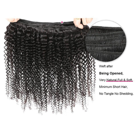 Image of Malaysian Virgin Kinky Curly Hair 2 or 3 Bundles With Free Part Closure - SilkyHairShop.com