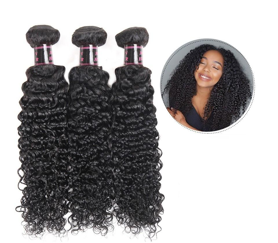Malaysian Virgin Kinky Curly Hair 2 or 3 Bundles With Free Part Closure - SilkyHairShop.com