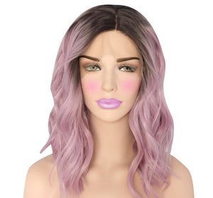 Emeralda Lace Front Wavy Long Bob Wig - 6 Colors