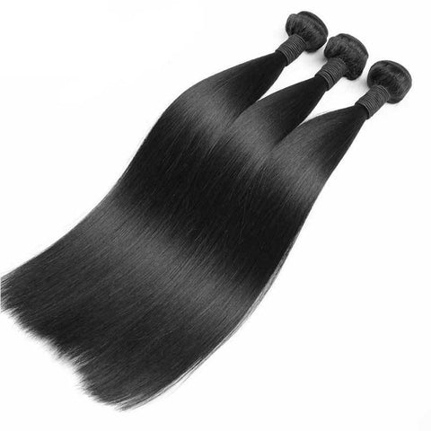 Lux Virgin Remy Natural Straight 3pcs - SilkyHairShop.com