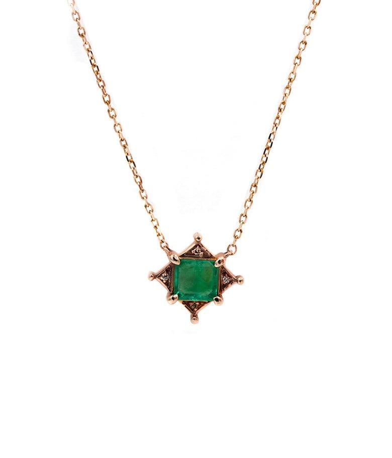 Emerald Art Deco Necklace