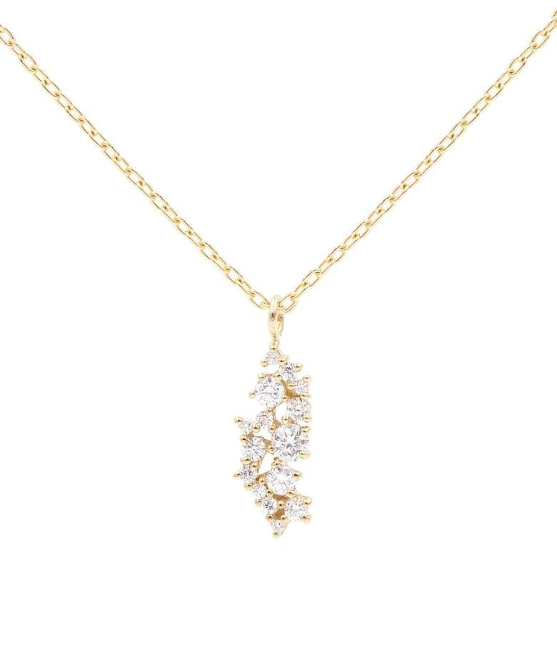 Cluster Diamond Charm Necklace