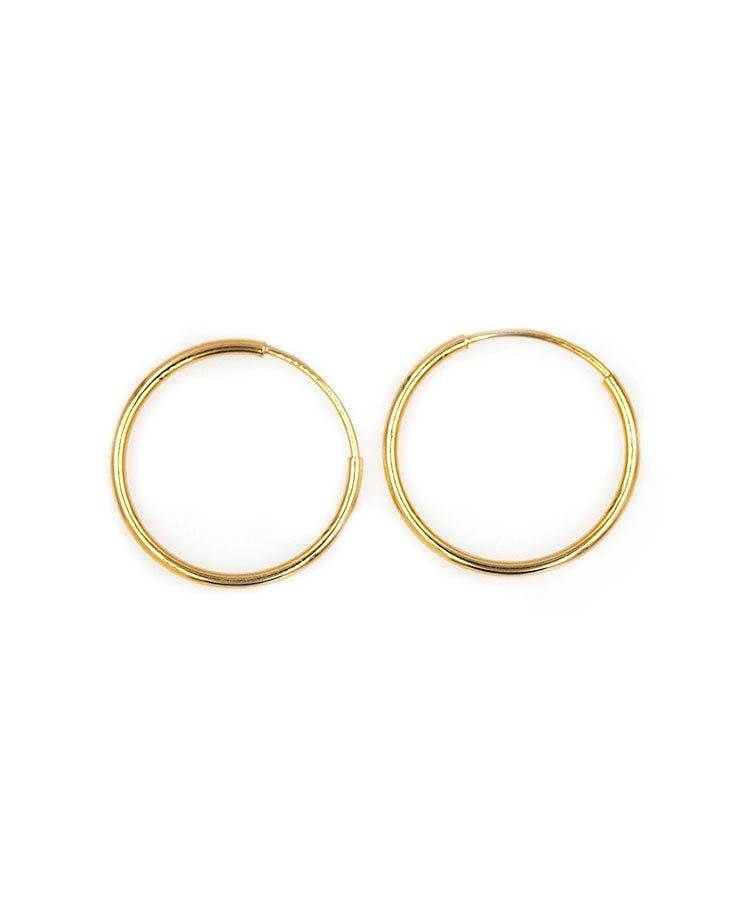 18mm Golden Hoops