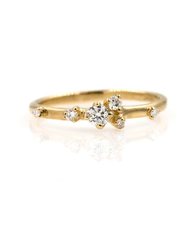 Prong Set Cluster Diamond Ring