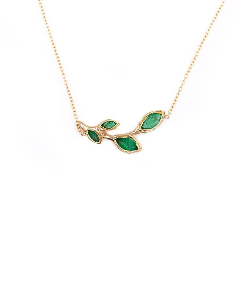 Four Leaf Emerald Necklace