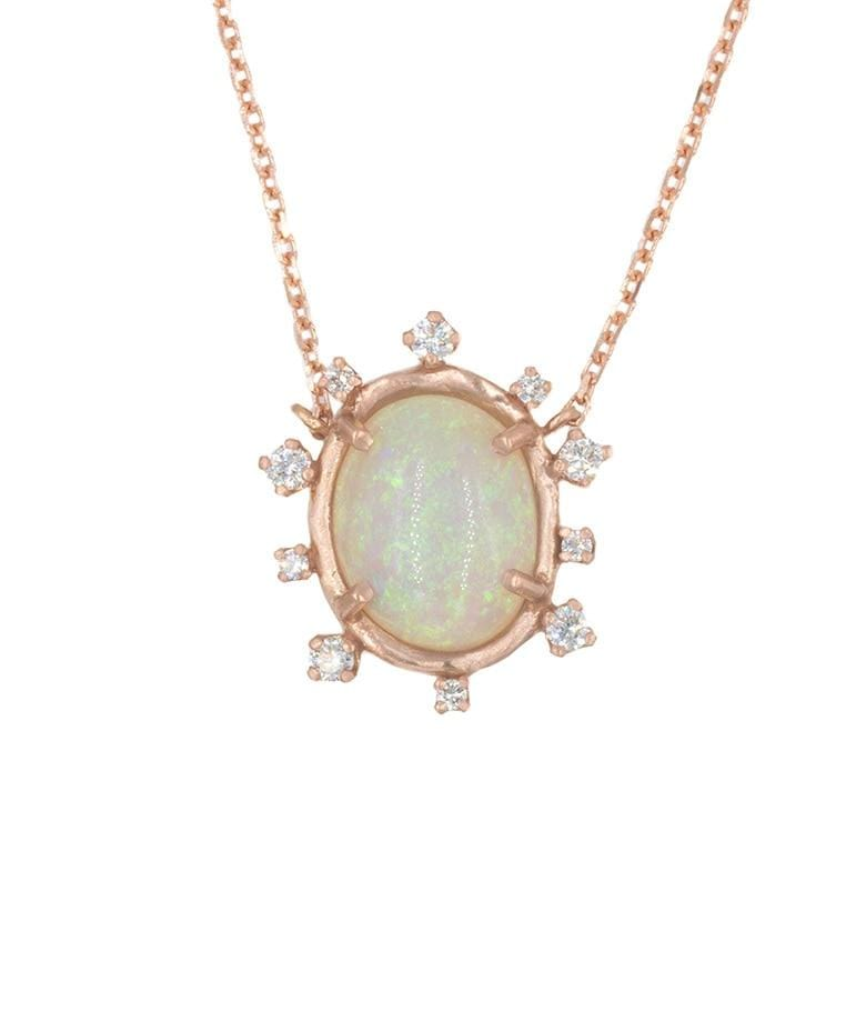 Snowflake Opal Necklace