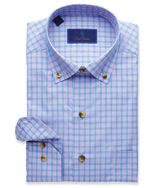 Mélange Plaid Sport Shirt