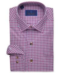Twill Weave Check Sport Shirt