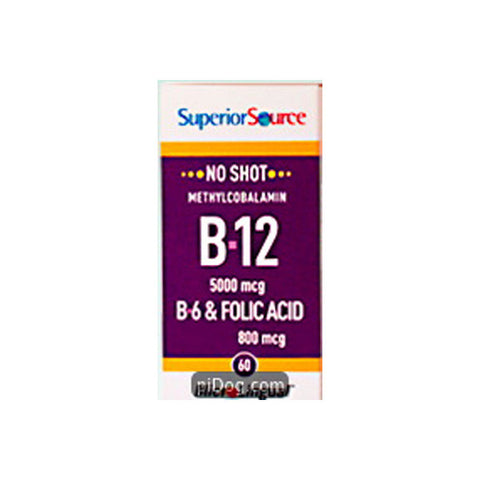No Shot Methylcobalamin B12 5000Mcg./B6 12/60 Ct