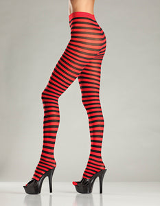Red and Black Striped Tights by Be Wicked : Cats Like Us