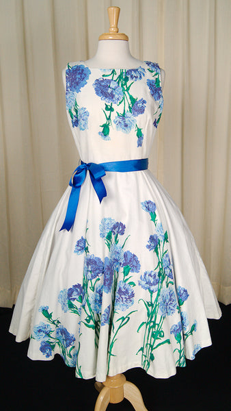 1950s Carnation Swing Dress by Cats Like Us - Cats Like Us