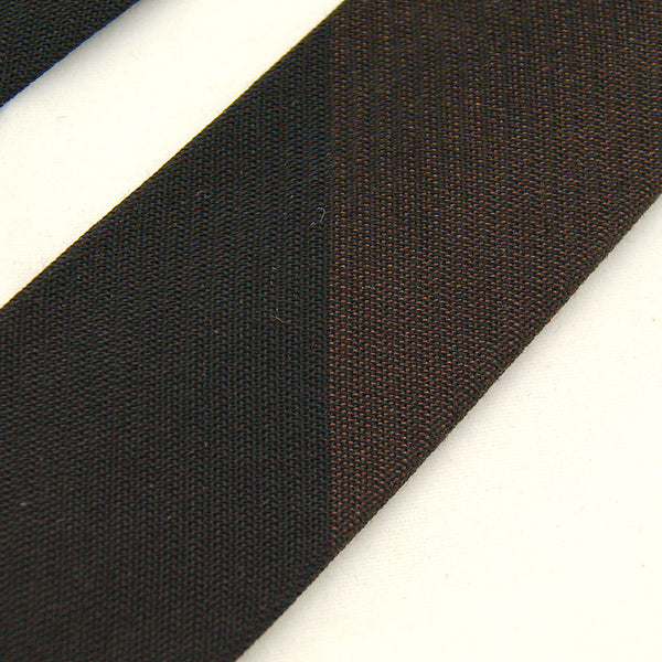1960s Black & Brown Skinny Tie by Cats Like Us - Cats Like Us