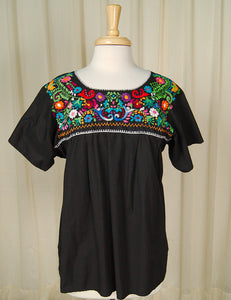 1960s Embroidered Peasant Top