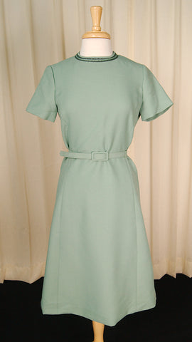 1960s Mint Green Wiggle Dress by Cats Like Us - Cats Like Us