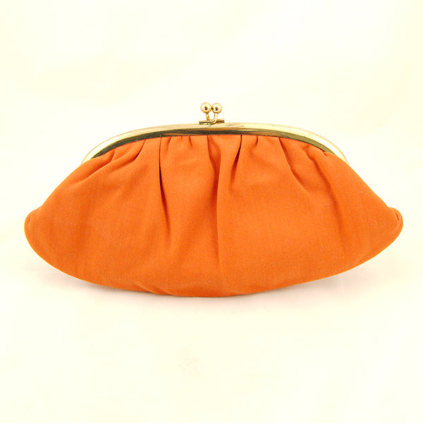 1960s Orange Clutch Handbag by Vintage Collection by Cats Like Us - Cats Like Us