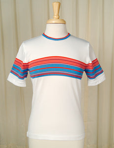 1960s Red White & Blue T Shirt