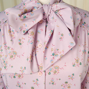 70s does 1940s Lavender Blouse