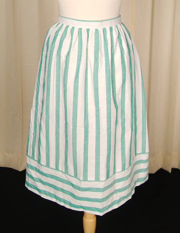 70s does 1950s Striped Skirt by Cats Like Us - Cats Like Us