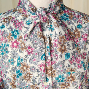 80s does 1940s Bouquet Blouse