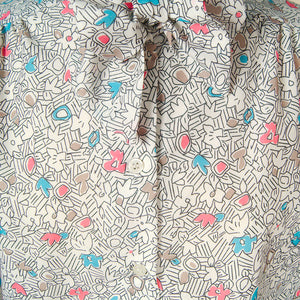 80s does 1940s Draw Bow Blouse