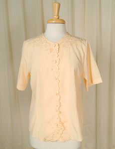 80s does 1940s Eyelet Blouse