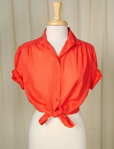 80s does 1940s Ruffle Blouse by Cats Like Us - Cats Like Us