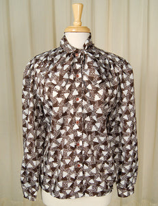 80s does 1940s Triangle Blouse