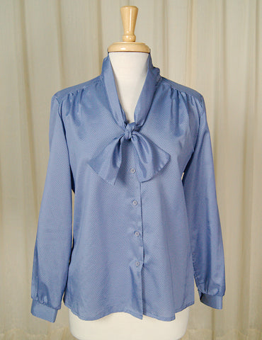 80s does 1940s Violet Blouse by Cats Like Us - Cats Like Us