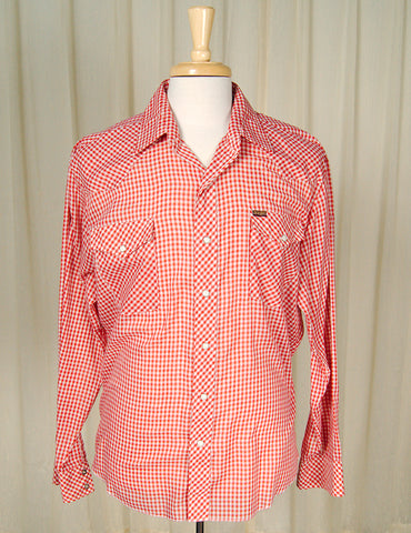80s does 1950s Gingham Shirt by Cats Like Us - Cats Like Us