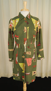 90s does 1960s Tiki MCM Coat by Cats Like Us - Cats Like Us