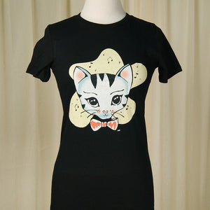 Heart of Haute Bowtie Kitty T Shirt for sale at Cats Like Us - 1