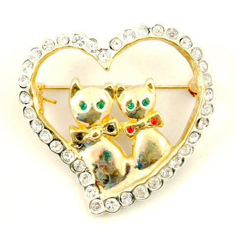 Cats Like Us Love Cats Brooch Pin for sale at Cats Like Us - 1