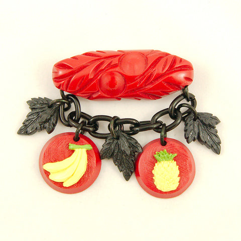 Retro Fruit Fakelite Brooch by Charcoal Designs : Cats Like Us
