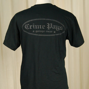 Crime Pays Garage Wear Crime Pays Logo T Shirt for sale at Cats Like Us - 2