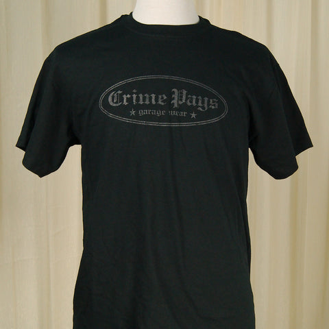 Crime Pays Garage Wear Crime Pays Logo T Shirt for sale at Cats Like Us - 1