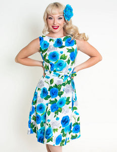 Ava Rose Blue Monique Dress by Heart of Haute - Cats Like Us