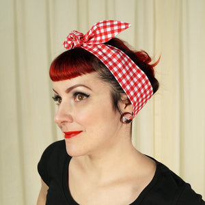 Picnic Gingham Hair Tie by Krampus Cuties : Cats Like Us