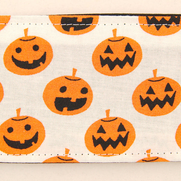 White Jack-O-Lanterns Hair Tie