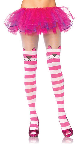 Cheshire Cat Striped Tights by Leg Avenue : Cats Like Us