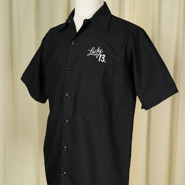 Ace of Spades Work Shirt by Lucky 13 - Cats Like Us