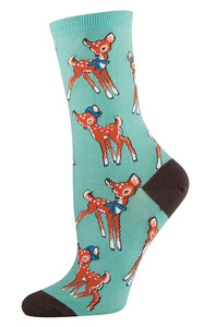Retro Deer Fawn Socks by SockSmith : Cats Like Us