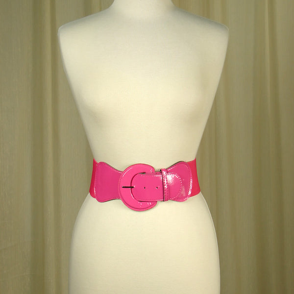 Pink Elastic Cinch Belt by Viva Dulce Marina : Cats Like Us