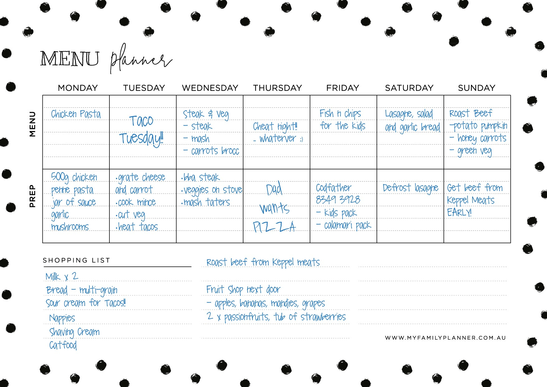 Weekly + Menu Planner Bundle